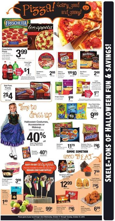 Kroger Ad Halloween Products Oct 27