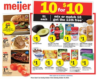Meijer Weekly Ad Preview Oct 4 - Oct 10 2015