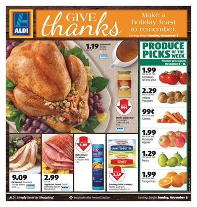 ALDI Special Buys Thanksgiving Nov 14
