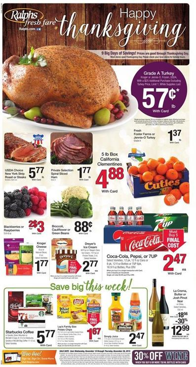 Ralphs Weekly Ad Preview Nov 18 2015
