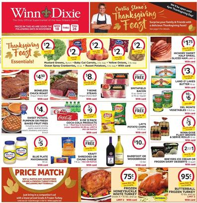 Dixie Weekly Ad Thanksgiving Nov 18 2015