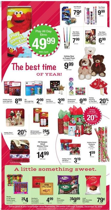 Kroger Ad Christmas Gifts 2015
