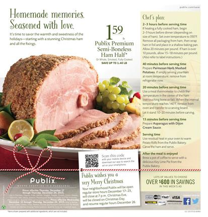 Publix Ad Preview Holiday 2015