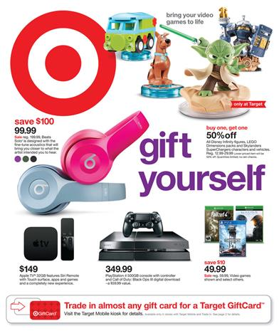 Target Ad New Year Deals 2015