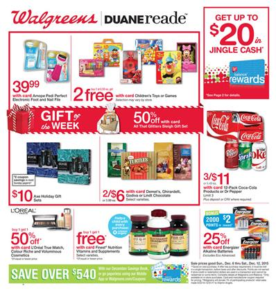 Walgreens Ad Christmas Gifts Dec 6