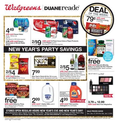 Walgreens Ad New Year Sale 2015