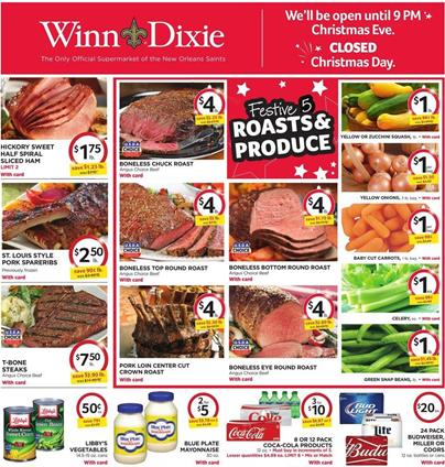 Winn Dixie Weekly Ad Christmas Holiday Food 2015