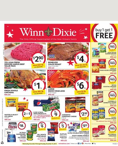 Winn Dixie Weekly Ad Holiday Offers 2015