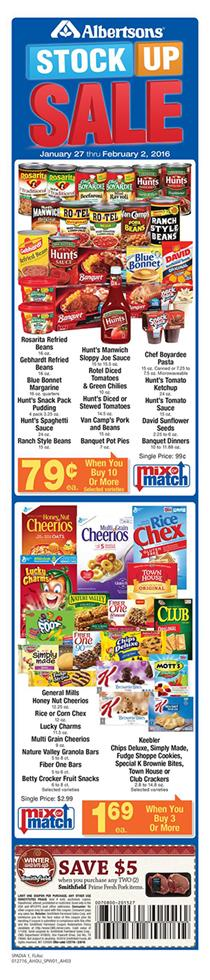 Albertsons Weekly Ad Jan 30 Products