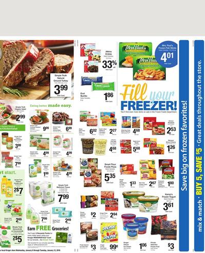 Frozen Food Kroger Ad Jan 12 2016