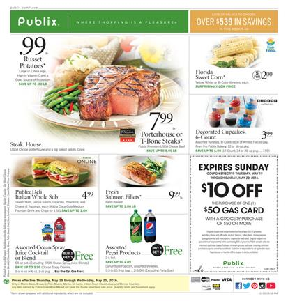 Publix Weekly Ad May 19 - 25 2016
