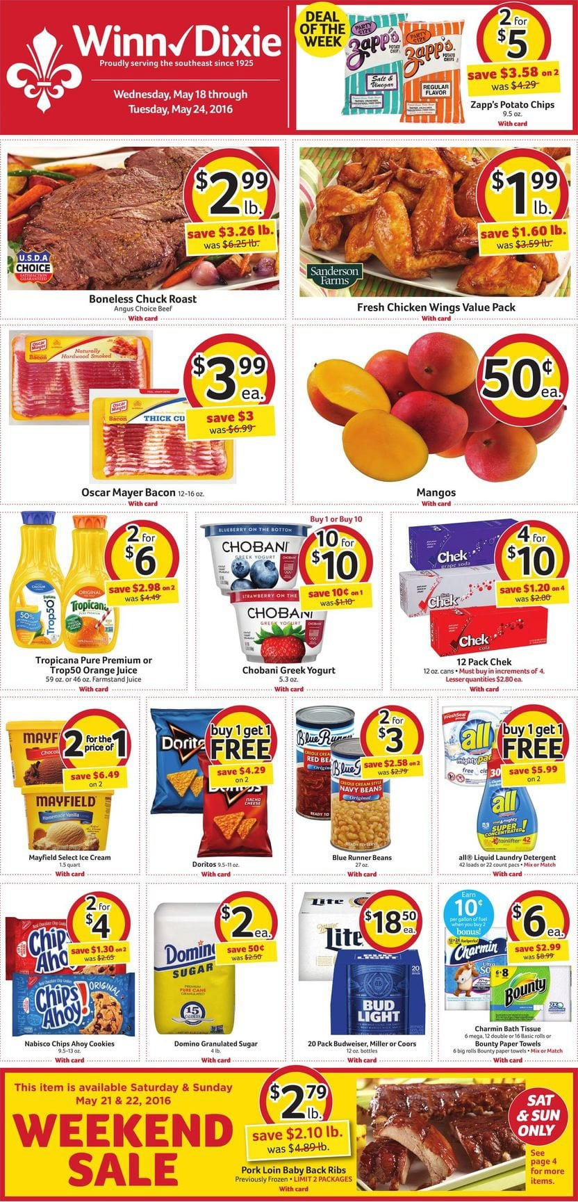 Winn Dixie Weekly Ad 19 25 May 2016 Coupon Matchups