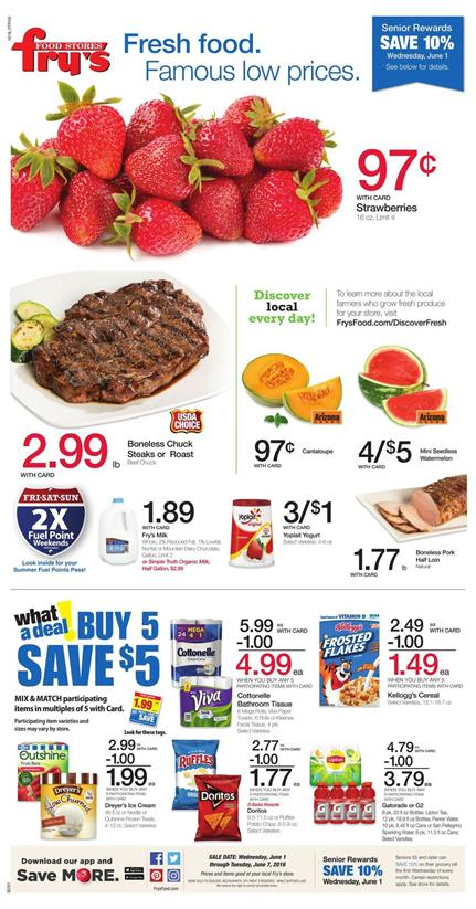 Fry's Weekly Ad June 1 - 7 2016