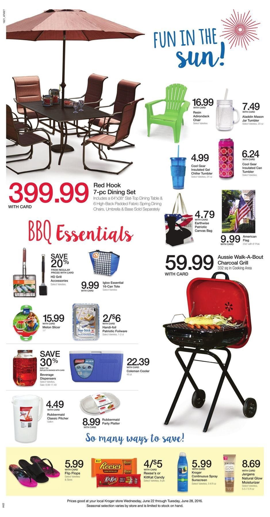 kroger weekly ad june 22 28 2016 deals and coupon match ups