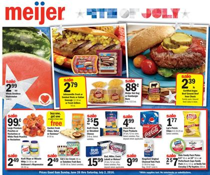 Meijer Weekly Ad Jun 26 - Jul 2 2016
