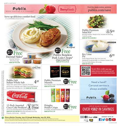 Publix Weekly Ad Jun 23 - 29 2016 Coupon Savings