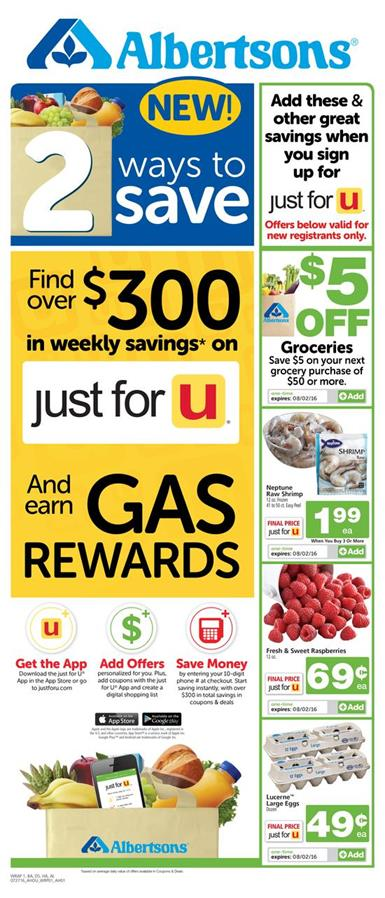 Albertsons Weekly Ad Jul 27 - Aug 2 2016 new