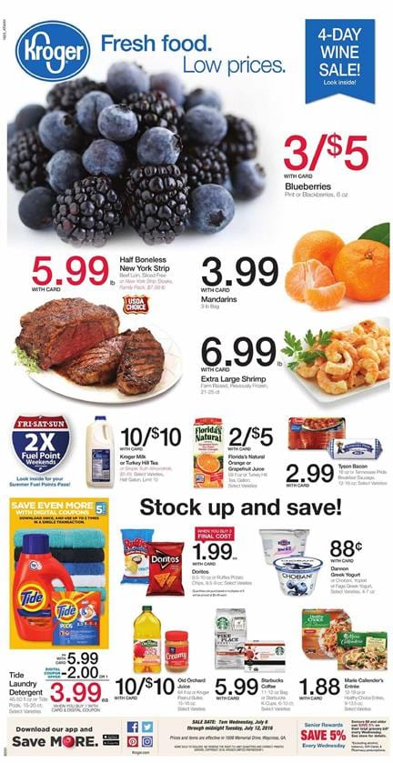 Kroger Weekly Ad Jul 6 - Jul 12 2016 Coupon Match-Ups
