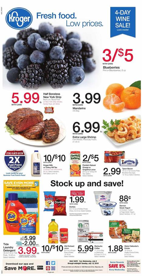 Kroger Weekly Ad Jul 6 - Jul 12 2016