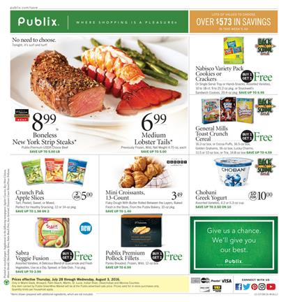 Publix Weekly Ad Jul 28 - Aug 3 2016