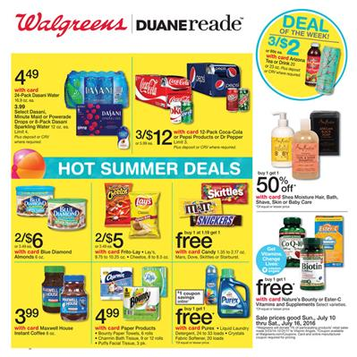 Walgreens Weekly Ad Jul 10 - 16 2016 Overview