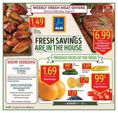 ALDI Weekly Ad Aug 7 - 13 2016