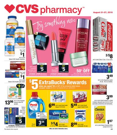 CVS Coupon Matchups 8-21 - 8-27 2016