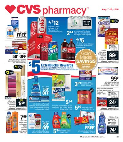 CVS Weekly Ad Aug 7 - 13 2016 Pharmacy