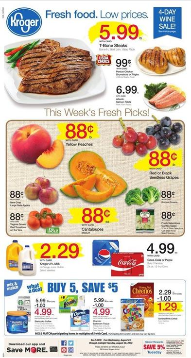 Kroger Weekly Ad Aug 24 Aug 30 2016