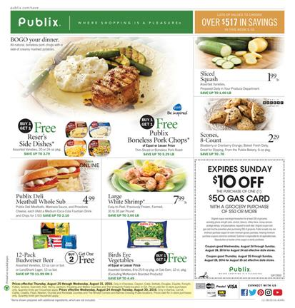 Publix Weekly Ad Aug 24 - 30 2016