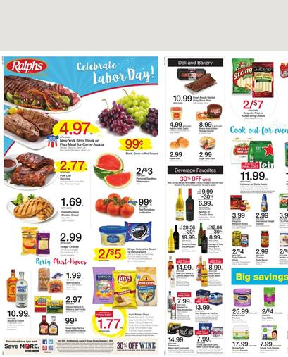 Ralphs Weekly Ad Aug 31 - Sep 6 2016