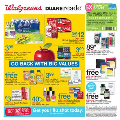 Walgreens Weekly Ad Aug 14 - Aug 30 2016