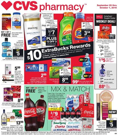 CVS Weekly Ad September 25 - October 1 2016