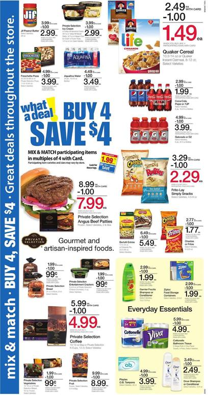 Kroger Ad Buy 4 Save $4 Participating Items Sep 21 - 27 2016