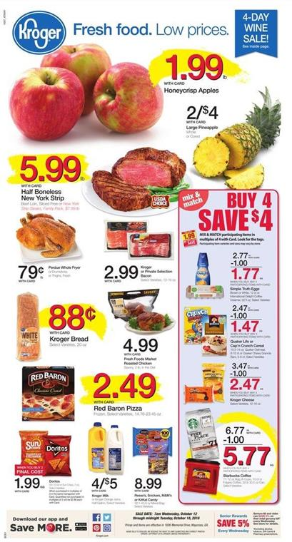 Kroger Weekly Ad Oct 12 - 18 2016