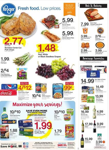 Kroger Weekly Ad Oct 19 - 25 2016