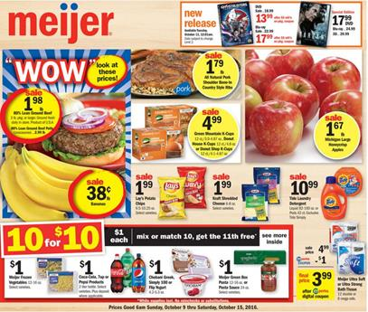Meijer Weekly Ad Oct 9 - 11 2016