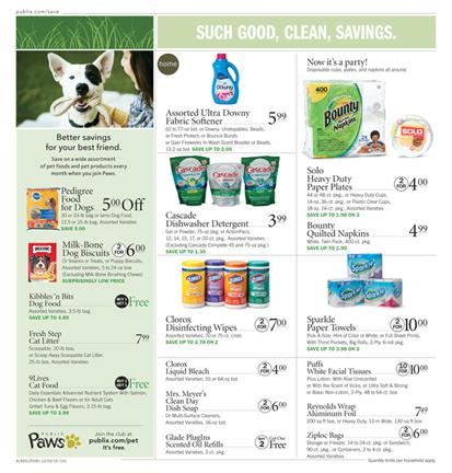 Publix Ad Cleaning Items Oct 5 - 11 2016