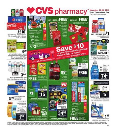 CVS Weekly Ad Beauty Thanksgiving Deals Nov 20 - 26 2016