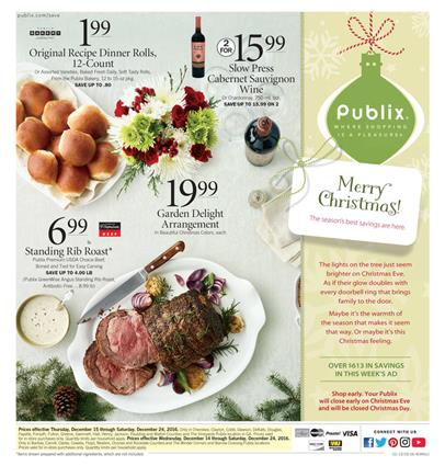 Publix Weekly Ad Christmas Deals 2016