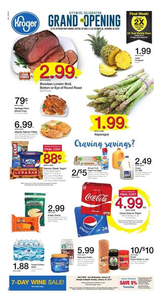Kroger Weekly Ad Buy 6 Save 3 January 25 - 31 2017