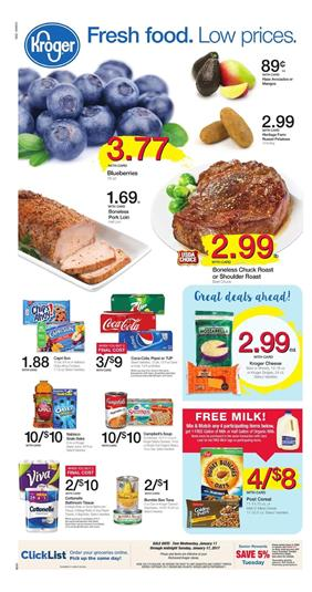 Kroger Weekly Ad Overview Jan 11 - 17 2017