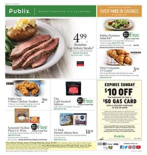 Publix Weekly Ad Food Deals Jan 18 - 24 2017