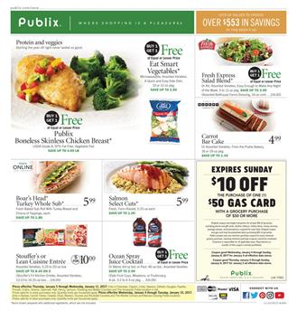 Publix Weekly Ad Food Deals January 4 - 10 2017