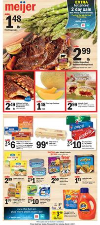 Food Deals Meijer Weekly Ad Feb 26 - Mar 4 2017