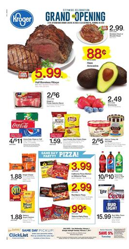 Kroger Weekly Ad Game Day February 1 - 7 2017