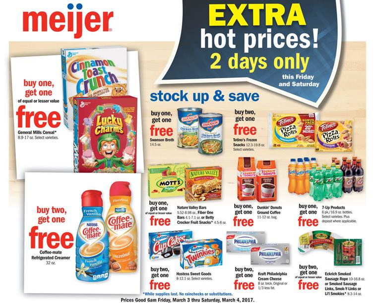 Meijer 2 Day Sale Ad Mar 3 4 2017