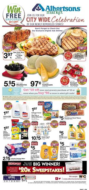 Albertsons Weekly Ad Grocery April 5 - 11 2017
