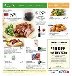 Bogo Free Publix Weekly Ad Apr 26 - May 2 2017