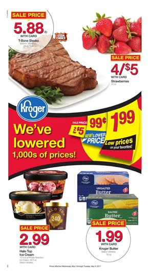 Kroger Weekly Ad Grocery May 3 - 9 2017